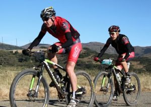 EAI Cycling's Johann Rabie (left) and Gawie Combrinck won stage three of the 2015 Old Mutual joBerg2c between Reitz and Sterkfontein Dam today. Photo: Full Stop Communications