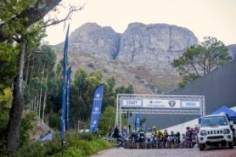 South Africa's first multi-stage mountain biking series, the Liberty Encounter Series, was launched at Rhebokskloof Wine Estate near Paarl on Saturday. The Winelands Encounter (pictured here) will form the first event of the new series. Photo: Ewald Sadie
