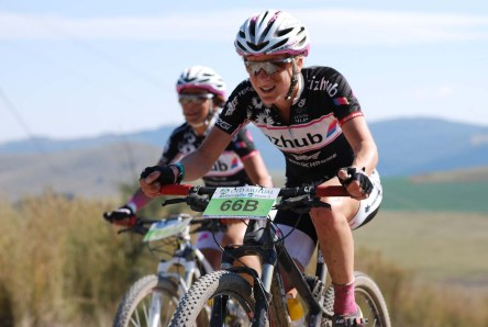 Former champion Catherine Williamson has her eye on the mixed category title at this weekend's Old Mutual joBerg2c mountain bike race. Photo: Full Stop Communications