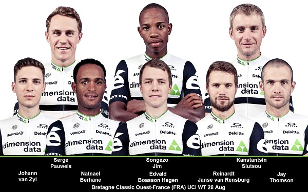 The Team Dimension Data riders that are gearing up for the Bretagne Classic Ouest-France tomorrow. Photo: Supplied