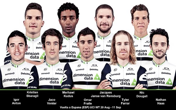 The Team Dimension Data riders will be taking on the Vuelta a Espana starting on Saturday. Photo: Supplied