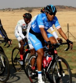 Team Telkom's Nolan Hoffman wins the Race for Victory in Johannesburg yesterday. Photo: Cycle Nation