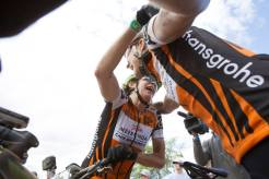Esther Suss and Jennie Stenerhag of Meerendal CBC win stage two of the 2017 Cape Epic. Photo: Greg Beadle/Cape Epic/SPORTZPICS