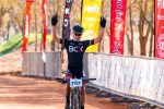 BCX rider HB Kruger led from start to finish to claim the honours in the 60km feature race of the Paarl MTB Classic in Rhebokskloof Wine Estate today.