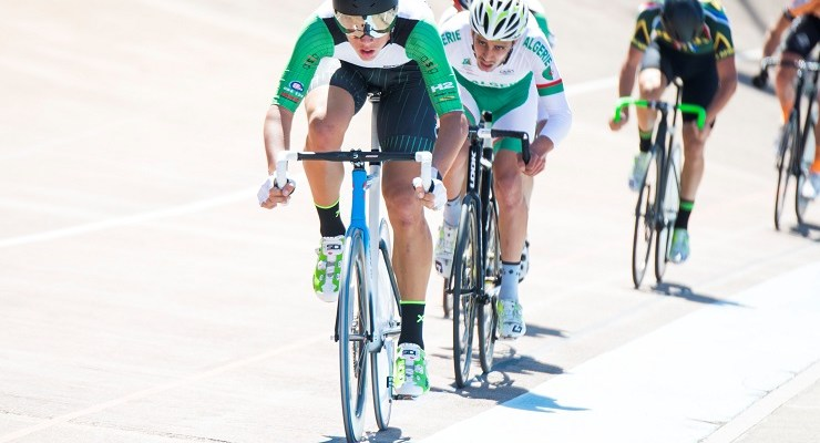 Jason Oosthuizen in action on the track