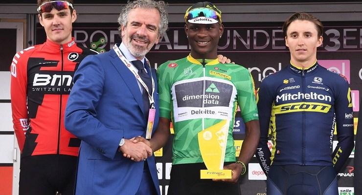Nicholas Dlamini being congratulated
