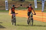 A team finishes day two of Innibos MTB Stage Race.
