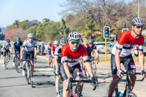 Riders in action at the Jock Classic