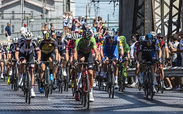 Cyclists in action during this year's Vuelta a Espana.