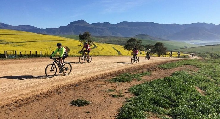 Riders during the first stage of the Greyton MTB Tour.
