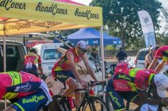 An image of RoadCover's riders getting ready for stage one of the Jock Tour.