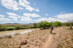 An action shot of a rider during the second day of the Berg and Bush 'Great Trek'. Photo: Em Gatland