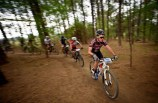 Riders in action at the 947 Mountain Bike Challenge