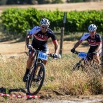 Pieter Seyffert (left) and Hanco Kachelhoffer, of Ellsworth-ASG, will be back to defend their title in the two-day Sanlam MTB Invitational race starting at the Rhebokskloof Wine Estate near Paarl on Saturday.