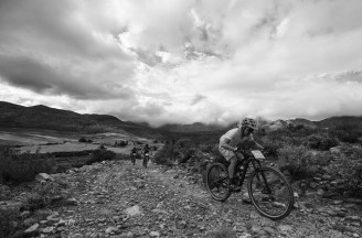 Some riders in action during the 2018 Attakwas Extreme MTB Challenge.