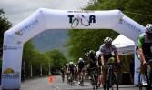 Cyclists finishing stage one of Mpumalanga Tour