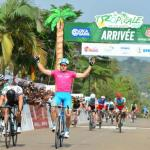 An image of Brenton Jones taking the win on stage five of the 2018 Tropicale Amissa Bongo.