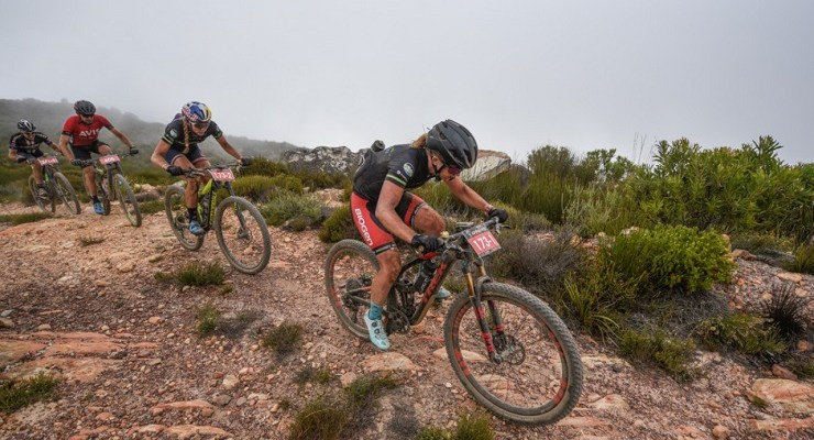 Amy McDougall, pictured here in front, intends to make a major statement at the Sabie Classic in Mpumalanga on Saturday. Photo: Supplied