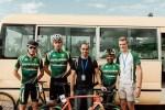 Eddie van Heerden, Gustav Basson and Jan Montshioa at the African Continental Road Championships