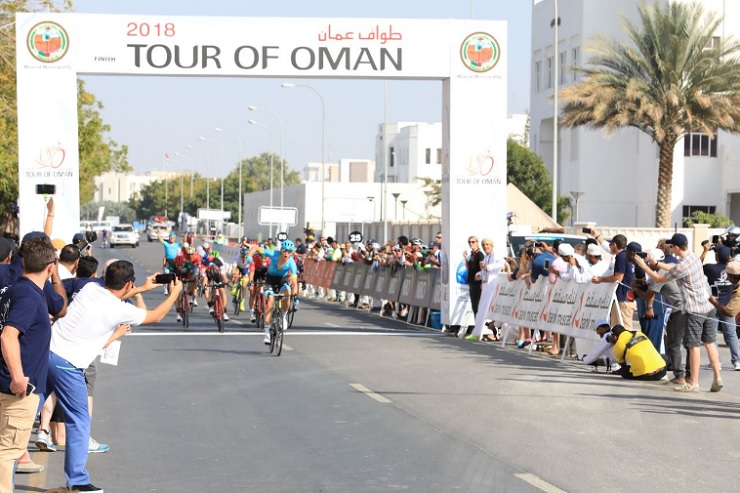Magnus Cort Nielsen won the fourth stage of the Tour of Oman today. Photo: Tour of Oman