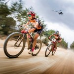 Annika Langvad, Kate Courtney during Cape Epic stage six