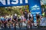 Team BCX's Nolan Hoffman celebrates as he wins the Cape Town Cycle Tour