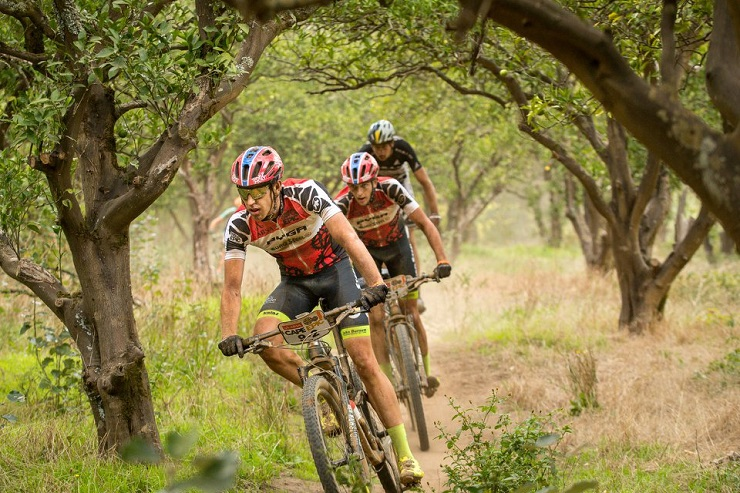 Julian Jessop, Matthys Beukes during Cape Epic stage six