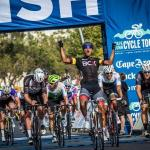 Nolan Hoffman pictured celebrating seconds after winning the 109km Cape Town Cycle Tour yesterday. Photo: Toby Ginsberg