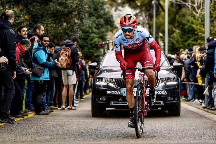 Katusha-Alpecin's Willie Smit in action during the Volta a Catalunya in Spain last week. Photo: Namuss Films