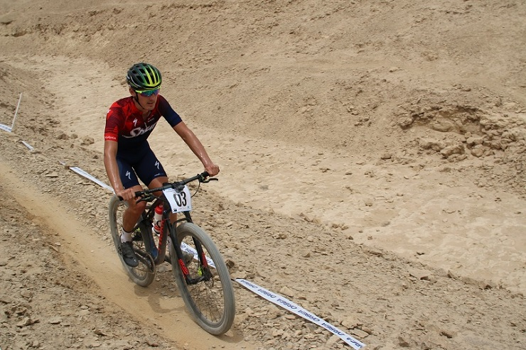 Alan Hatherly pictured during the African Continental MTB Cross-Country Championships in Egypt on Sunday. Photo: Supplied