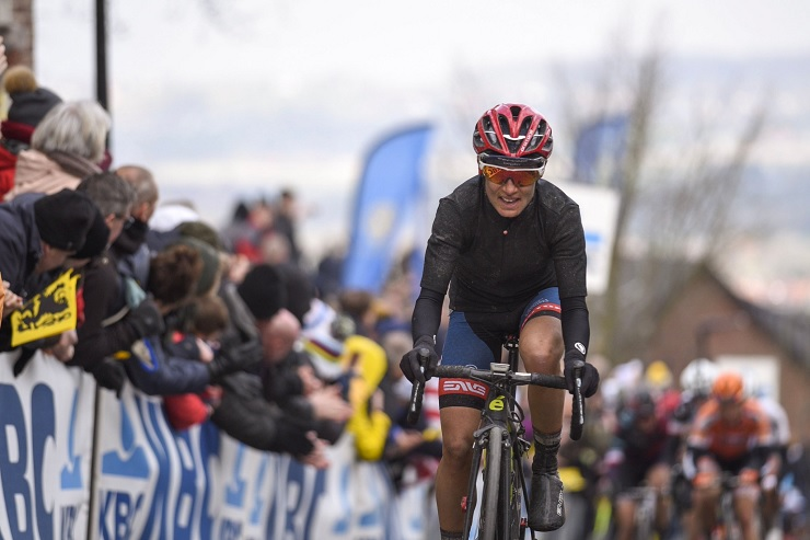Ashleigh Moolman-Pasio  pictured at the Tour of Flanders in Belgium on Sunday. Photo: Velofocus