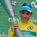 Miguel Angel Lopez, pictured here at the Tour de Suiza two years ago, won stage two of the Tour of the Alps in Italy yesterday. Photo: Photo credits