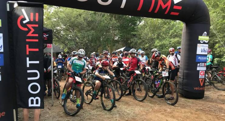 Mountain bikers line up for the Ndlovumzi MTB Classic