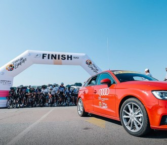 Riders at the start of stage two of Tour de Limpopo