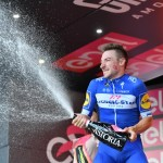 Quick-Step Floors' Elia Viviani won his fourth Giro d'Italia stage