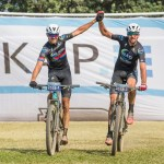 NAD Pro's Nico Bell (left) and Matt Beers won all three stages of the sani2c Race to claim the race title yesterday. Photo: Anthony Grote