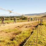 Brandon du Plessis and Jaco van Vuuren won the 99km second stage of the sani2c Trail today. Photo: sani2c