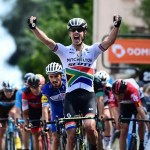 South Africa's Daryl Impey took the race lead of the Criterium du Dauphine after placing third in the 180.5km second stage. Photo: ©A.S.O./Alex Broadway