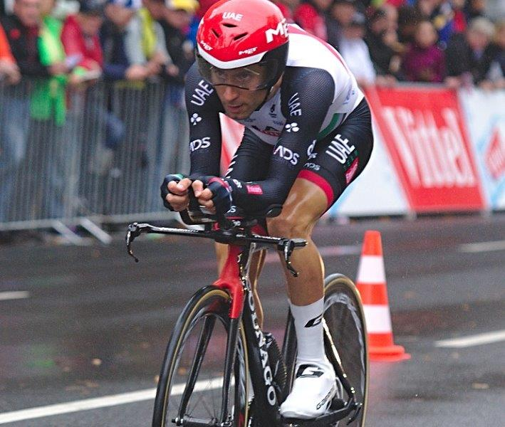 UAE Team Emirates' Diego Ulissi climbed to victory on the 155km fifth stage of the Tour de Suisse. Photo: Photo credits