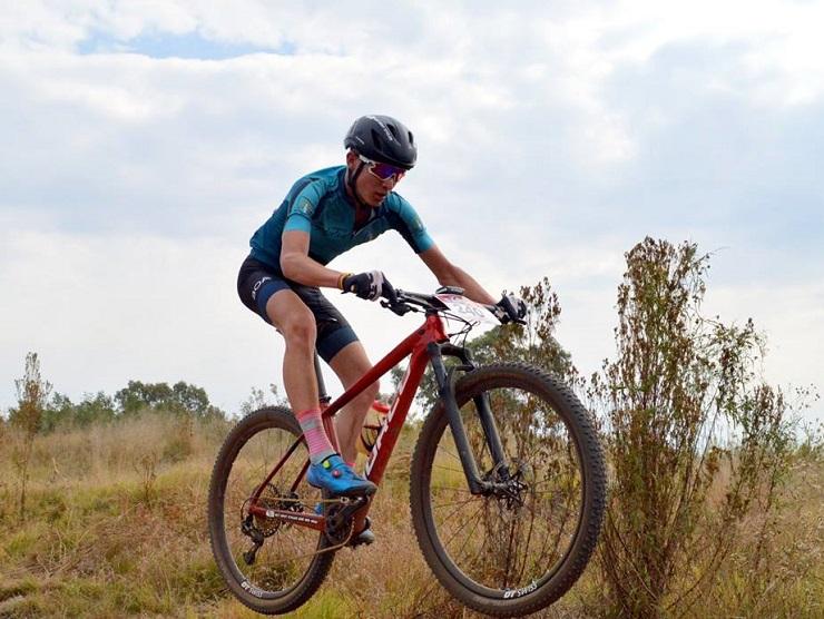 Hennie van Wyk in action. Photo: Nicky Lindeque