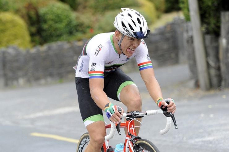 South Africa's Rickardo Broxham (pictured) took the race lead of the Junior Tour of Ireland after stage five yesterday. Photo: Stephen McMahon/Sportsfile