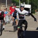 Junior cyclist Rickardo Broxham flew South Africa's flag high when he won a 95km circuit race in Jesseren in Belgium. Photo: aejosport.smugmug.com