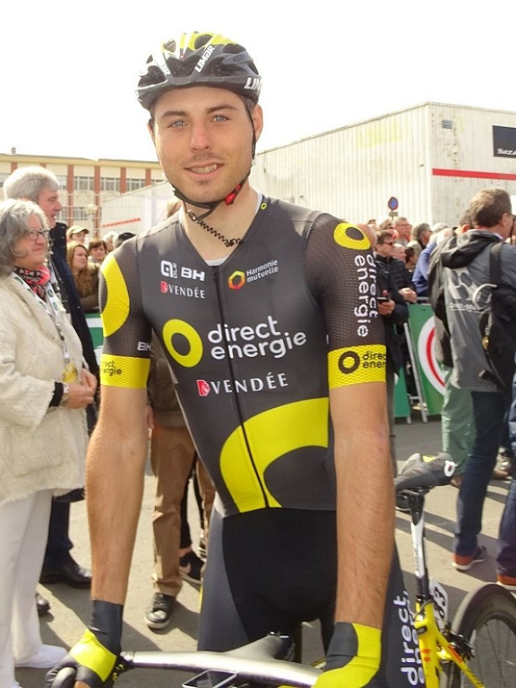 Direct Energie's Romain Cardis won stage one of the Tour de Wallonie
