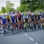 The peloton in action during stage nine of the Tour de France
