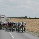 The peloton in action during stage two of the Tour de France