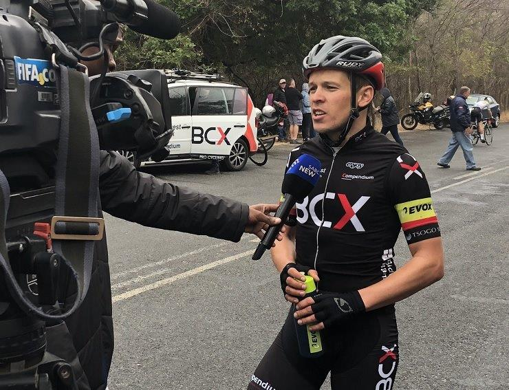 Team BCX's David Maree (pictured) won the 136km opening stage of the Lowveld Tour, which took place in Limpopo today. Photo: Team BCX