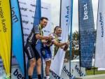Brad Gouveris (left) and Anriette Schoeman win Bestmed Makro Cycle Tour