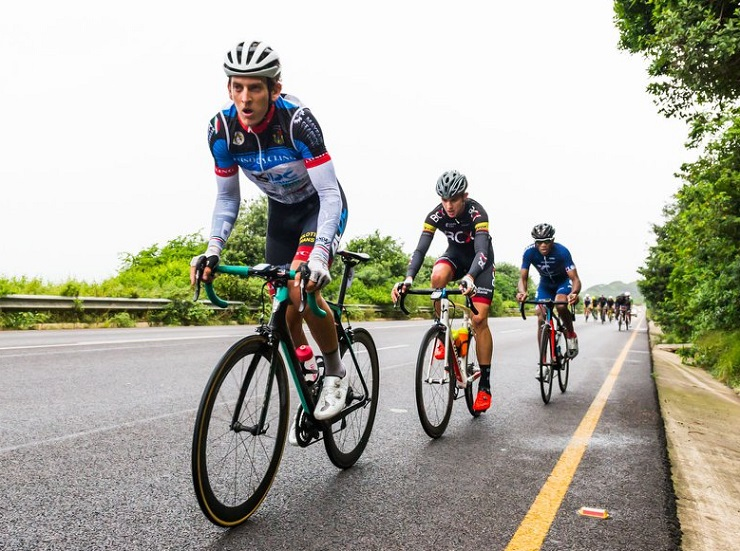 """Calvin Beneke (front) is """"hungry"""" to get a top result at the Tour de Windhoek, which starts in Namibia tomorrow, despite having recently been ill. Photo: Anthony Grote Photography"""
