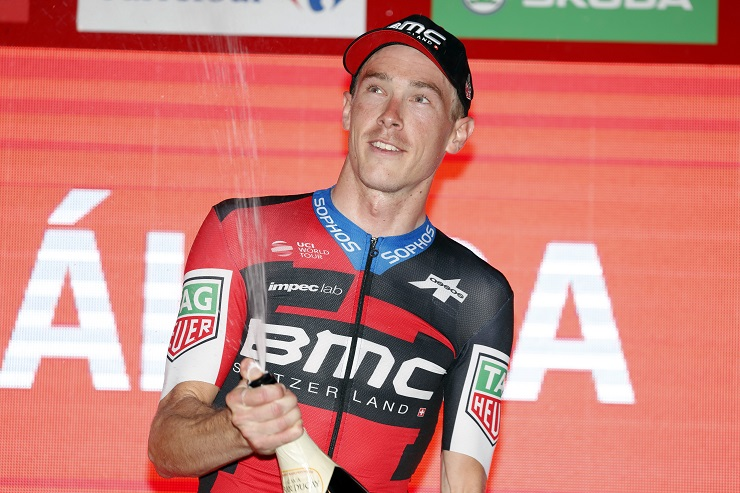 BMC Racing Team's Rohan Dennis won the second individual time-trial of the Vuelta Espana