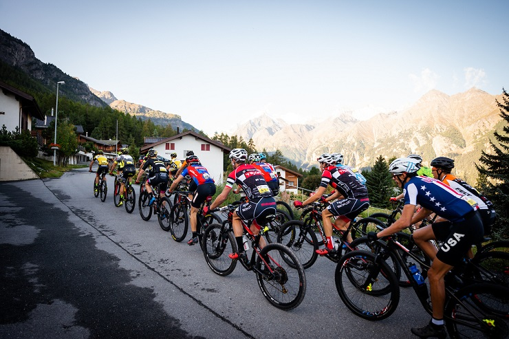 Spot Africa/Insect Science's Timothy Hammond and Alan Gordon came 21st on the 63km fourth stage of the Swiss Epic in Zermatt today. Photo: Marius Maasewerd